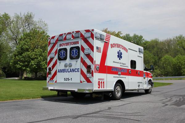 new ambulance sales in PA - 2014 Braun Chief XL Type III - passenger rear
