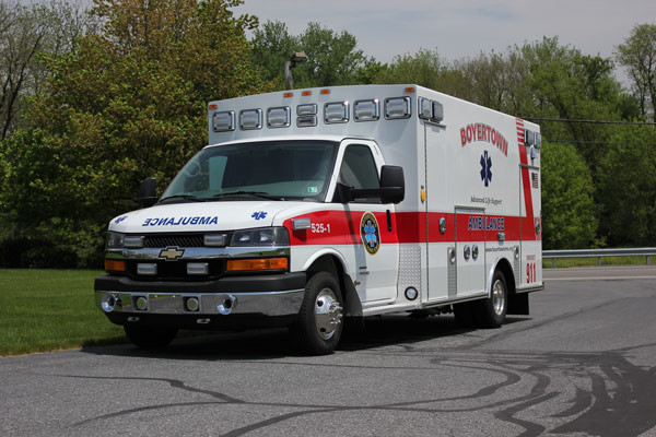 new ambulance sales in PA - 2014 Braun Chief XL Type III - driver front