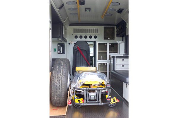 Braun Chief XL Type III ambulance - new ambulance sales in PA - module interior with stretcher