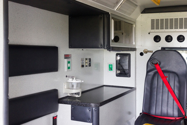 Braun Chief XL Type III ambulance - new ambulance sales in PA - module interior driver side