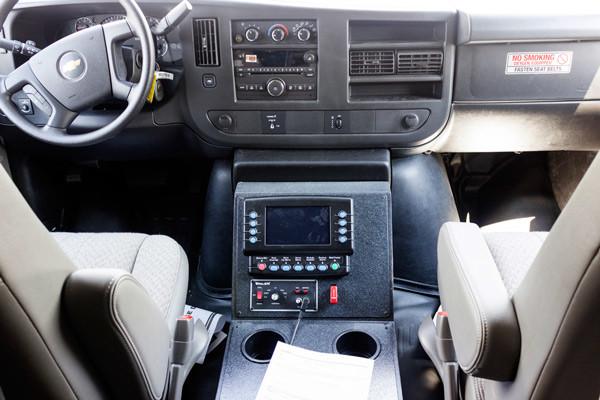 Braun Chief XL Type III ambulance - new ambulance sales in PA - cab interior mux system