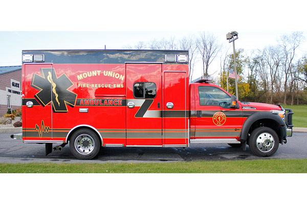 2014 Braun Chief XL - new type I ambulance sales in Pennsylvania - passenger side