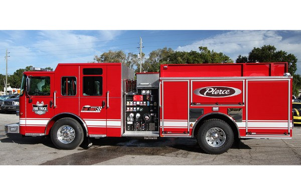 stock fire engine sales in PA - Pierce Saber pumper 30231 - driver side