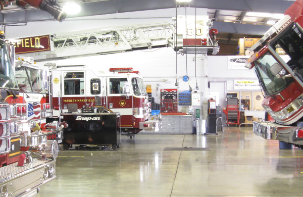 fire apparatus service in PA - Glick Fire Equipment service facility