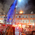 Photos by Tom Kelly IV A three-alarm caused massive damage to the DNB First building at the corner of N. Church and W. Market Streets in West Chester Borough, Monday night June 15, 2015.