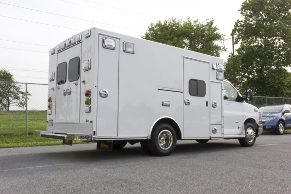 2015 Braun Signature Series Type III ambulance - Chevy G3500 - passenger rear