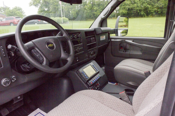 2015 Braun Signature Series Type III ambulance - Chevy G3500 - cab interior