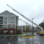 Pierce Ascendant comparison demo - 107' aerial vs 75' aerial ladder truck