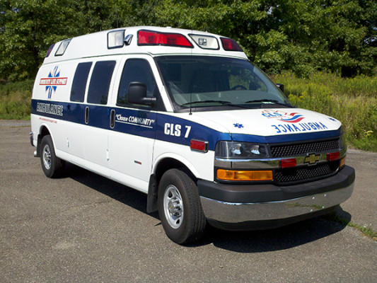 Demers Mirage Type II Ambulance Chevy Duramax - Community Life Support - Passenger Side View