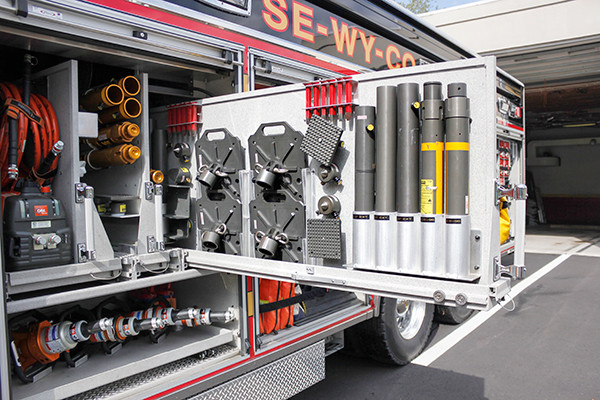 Pierce Velocity - Heavy Duty Rescue - Custom Tool Mounting 2