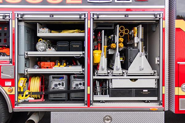 Pierce Velocity - Heavy Duty Rescue - Custom Tool Mounting 1