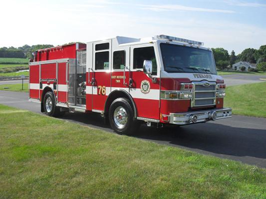 new 2010 Pierce Impel custom pumper - fire engine - passenger front