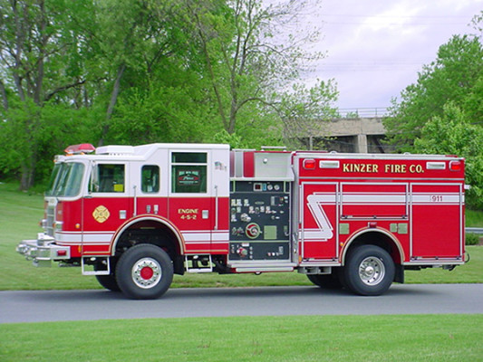 Pierce Dash Pumper Fire Truck - Engine 4-5-2 - Driver Side View