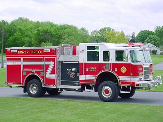 Pierce Dash Pumper Fire Truck - Engine 4-5-2 - Passenger Side View