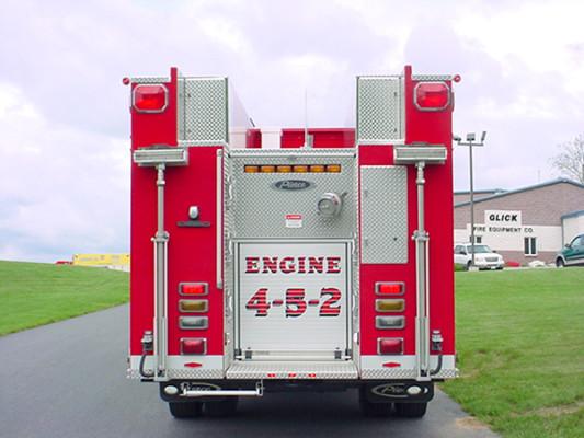 Pierce Dash Pumper Fire Truck - Engine 4-5-2 - Rear View