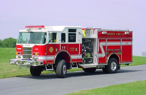 Pierce Dash Pumper Fire Truck - Engine 4-5-2 - Driver Side Angle View