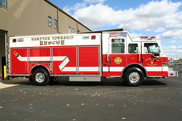 Pierce Velocity Heavy Duty Rescue Fire Truck - Non Walk-In
