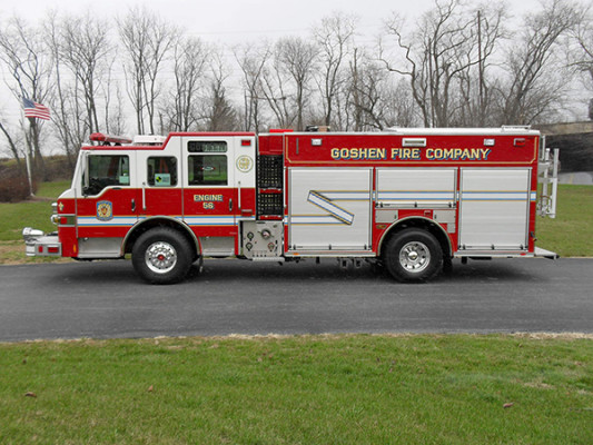 Pierce Velocity PUC Pumper - Fire Engine - Driver Side View