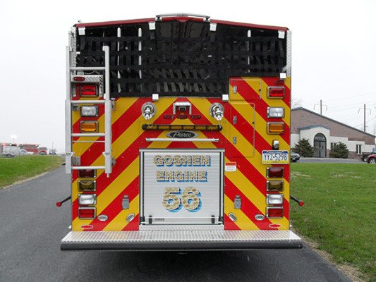 Pierce Velocity PUC Pumper - Fire Engine - Rear