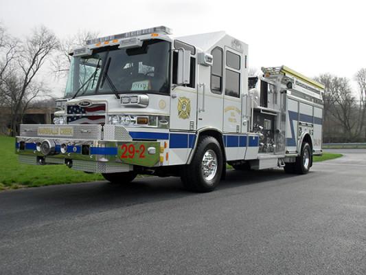 Pierce Quantum Pumper - Fire Engine - Driver Front Angle View