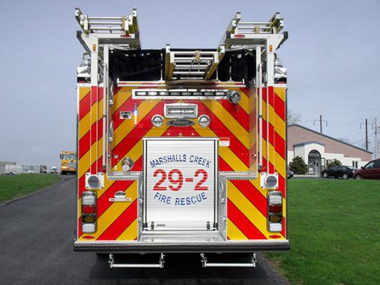 Pierce Quantum Pumper - Fire Engine - Rear