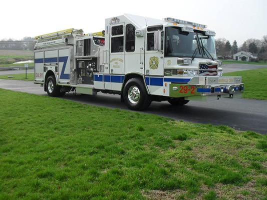 Pierce Quantum Pumper - Fire Engine - Passenger Front Angle View