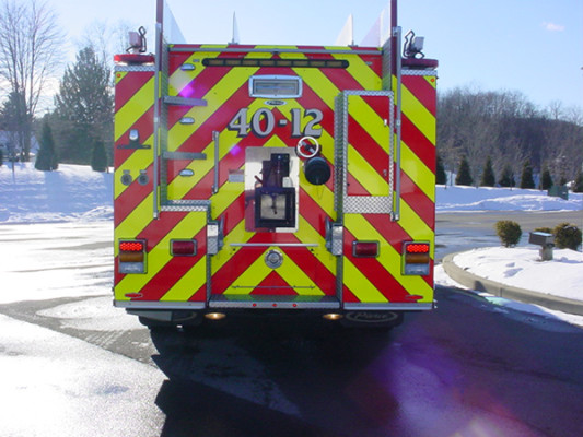 Pierce Velocity Pumper/Tanker - Fire Truck - Rear