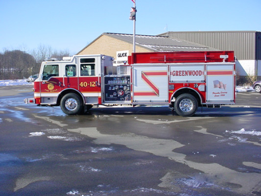 Pierce Velocity Pumper/Tanker - Fire Truck - Driver Side