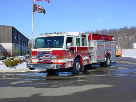 Pierce Velocity Pumper/Tanker - Fire Truck - Driver Front Angle View