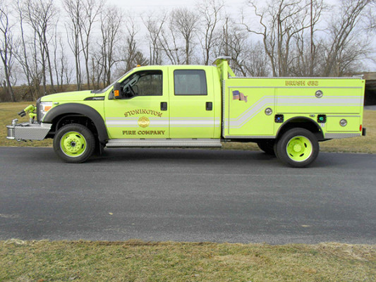 Pierce Ford Wildland Patrol Unit - Fire Brush Truck - Driver Side