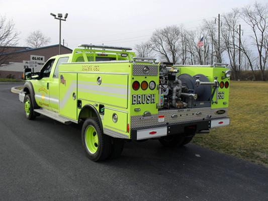 Pierce Ford Wildland Patrol Unit - Fire Brush Truck - Driver Rear