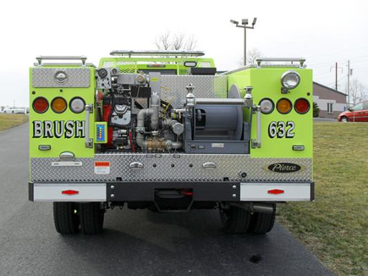 Pierce Ford Wildland Patrol Unit - Fire Brush Truck - Rear