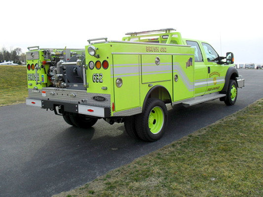 Pierce Ford Wildland Patrol Unit - Fire Brush Truck - Passenger Rear Side