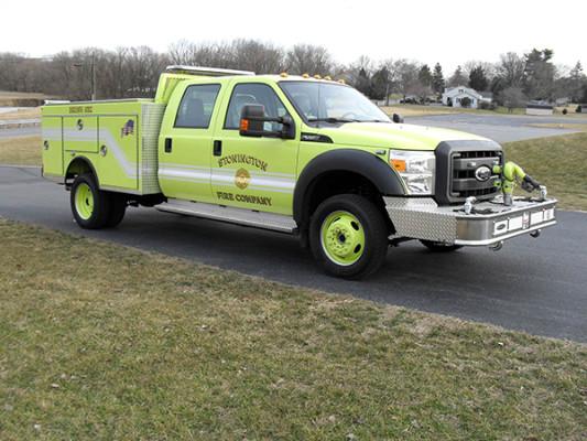 Pierce Ford Wildland Patrol Unit - Fire Brush Truck - Passenger Front Side