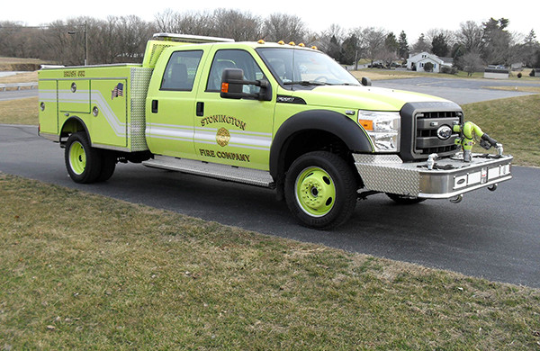 Pierce Ford Wildland Patrol Unit - Fire Brush Truck - Passenger Front Side