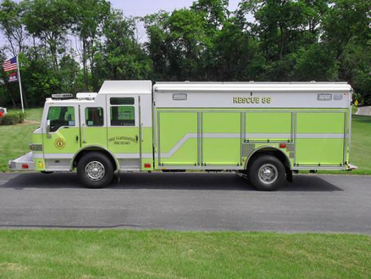 Pierce Impel Heavy Duty Rescue Truck - Non-Walk-In Rescue - Driver Side