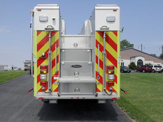 Pierce Impel Heavy Duty Rescue Truck - Non-Walk-In Rescue - Rear