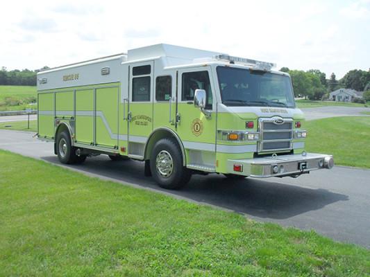 Pierce Impel Heavy Duty Rescue Truck - Non-Walk-In Rescue - Passenger Front