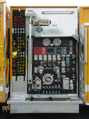Pierce Arrow XT Pumper - Fire Engine - Driver Side Pump Panel