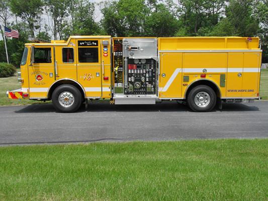 Pierce Arrow XT Pumper - Fire Engine - Driver Side