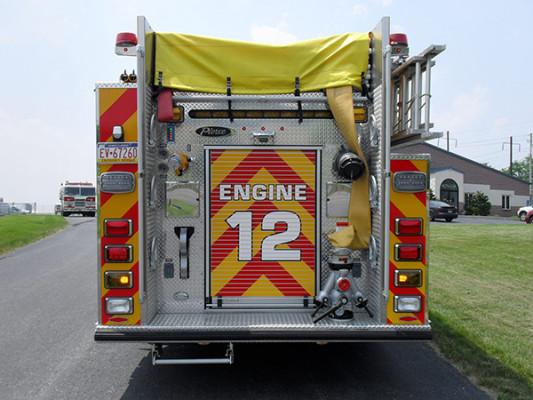 Pierce Arrow XT Pumper - Fire Engine - Rear
