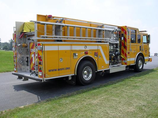 Pierce Arrow XT Pumper - Fire Engine - Passenger Rear