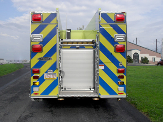 Pierce Velocity Pumper - Fire Engine - Rear