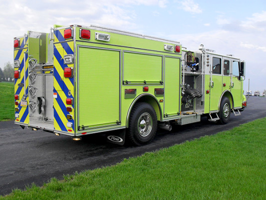 Pierce Velocity Pumper - Fire Engine - Passenger Rear