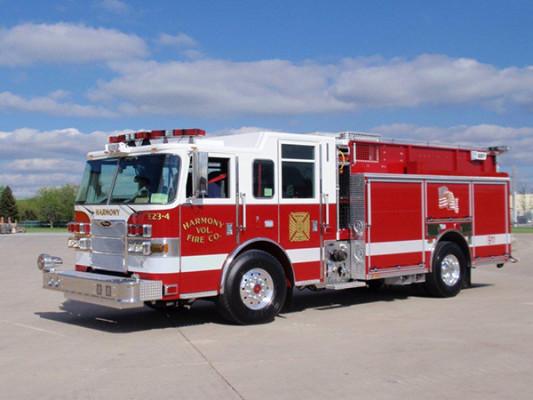 Harmony VFC - 2011 Pierce Arrow XT - PUC Pumper Fire Truck - Driver Front