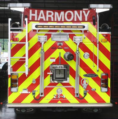 Harmony VFC - 2011 Pierce Arrow XT - PUC Pumper Fire Truck - rear