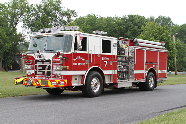 Blue Rock Fire Rescue - Pierce Arrow XT Pumper - Driver Front