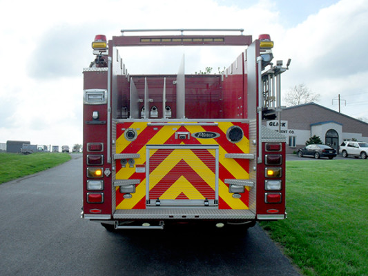 Blue Rock Fire Rescue - Pierce Arrow XT Pumper - Rear