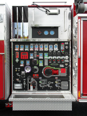 Blue Rock Fire Rescue - Engine 905 - Pierce Arrow XT Pumper Truck - Pump Panel