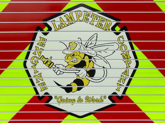 Lampeter FC - Pierce Impel PUC Pumper - Fire Engine - Maltese Cross Logo